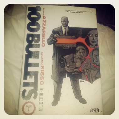 My latest graphic novel/comic book love: 100 Bullets, as recommended by Jairo